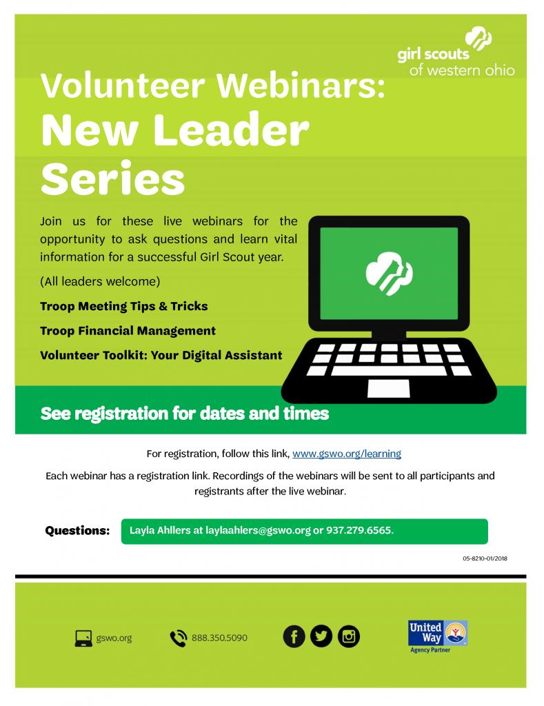 New Leader Webinar Series